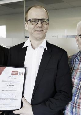 FRECON a/s | Mechanical Engineering er certificeret efter ISO 9001