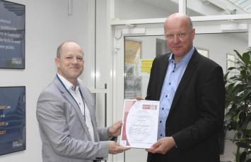 Contiga A/S received their ISO 9001 certificate
